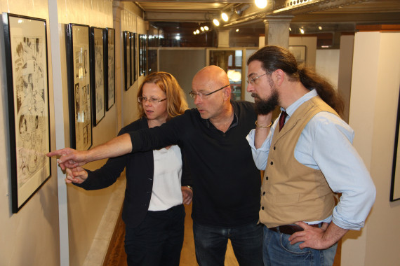 Tanja Wenisch, Jack Manini and Etienne Willem - © Daniel Fouss/Comics Art Museum test