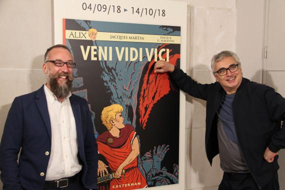 Giorgio Albertini et David B. - © Daniel Fouss/Musée de la BD test