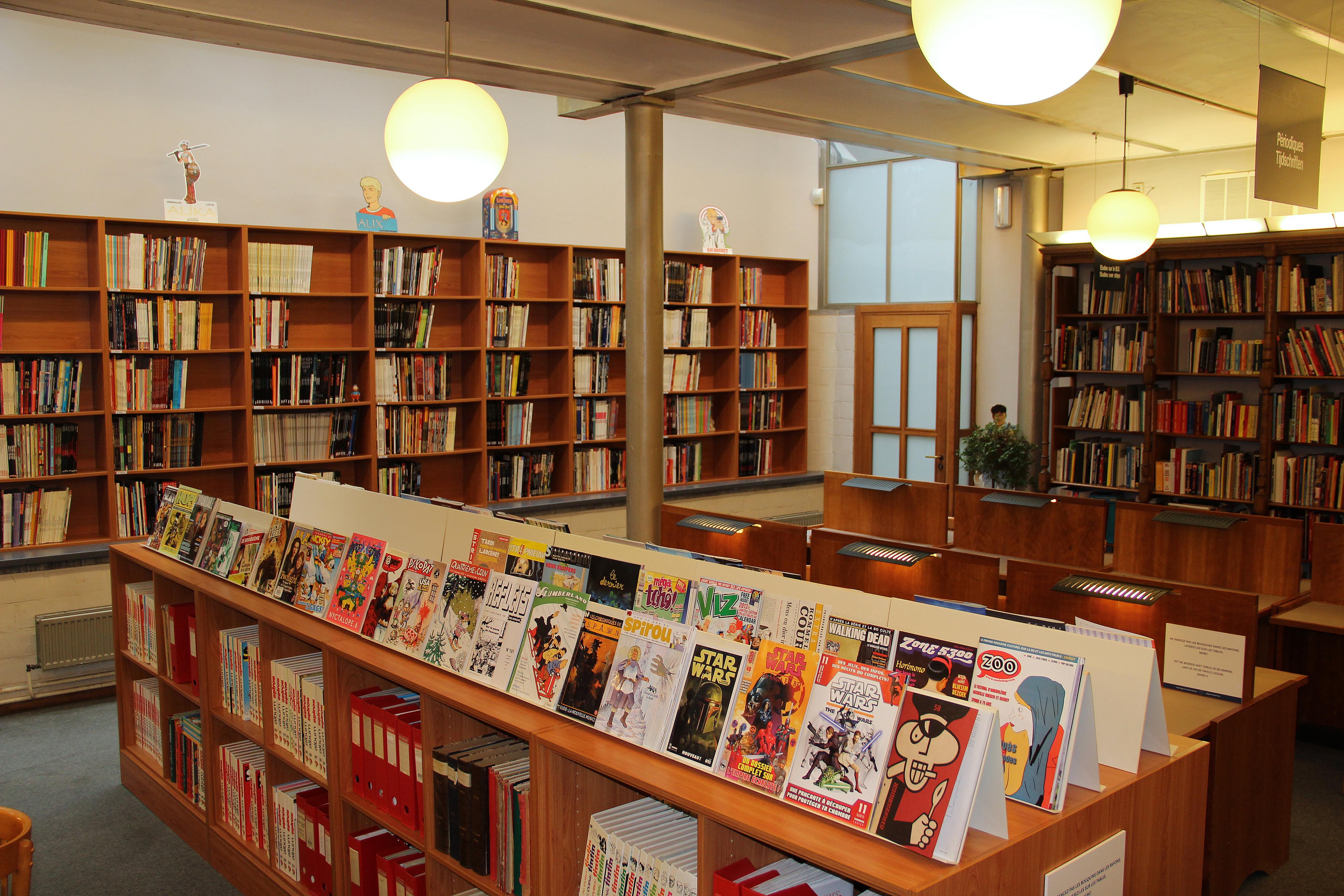 la biblioth que d tude centre belge de la bande dessin e mus e bruxelles. Black Bedroom Furniture Sets. Home Design Ideas