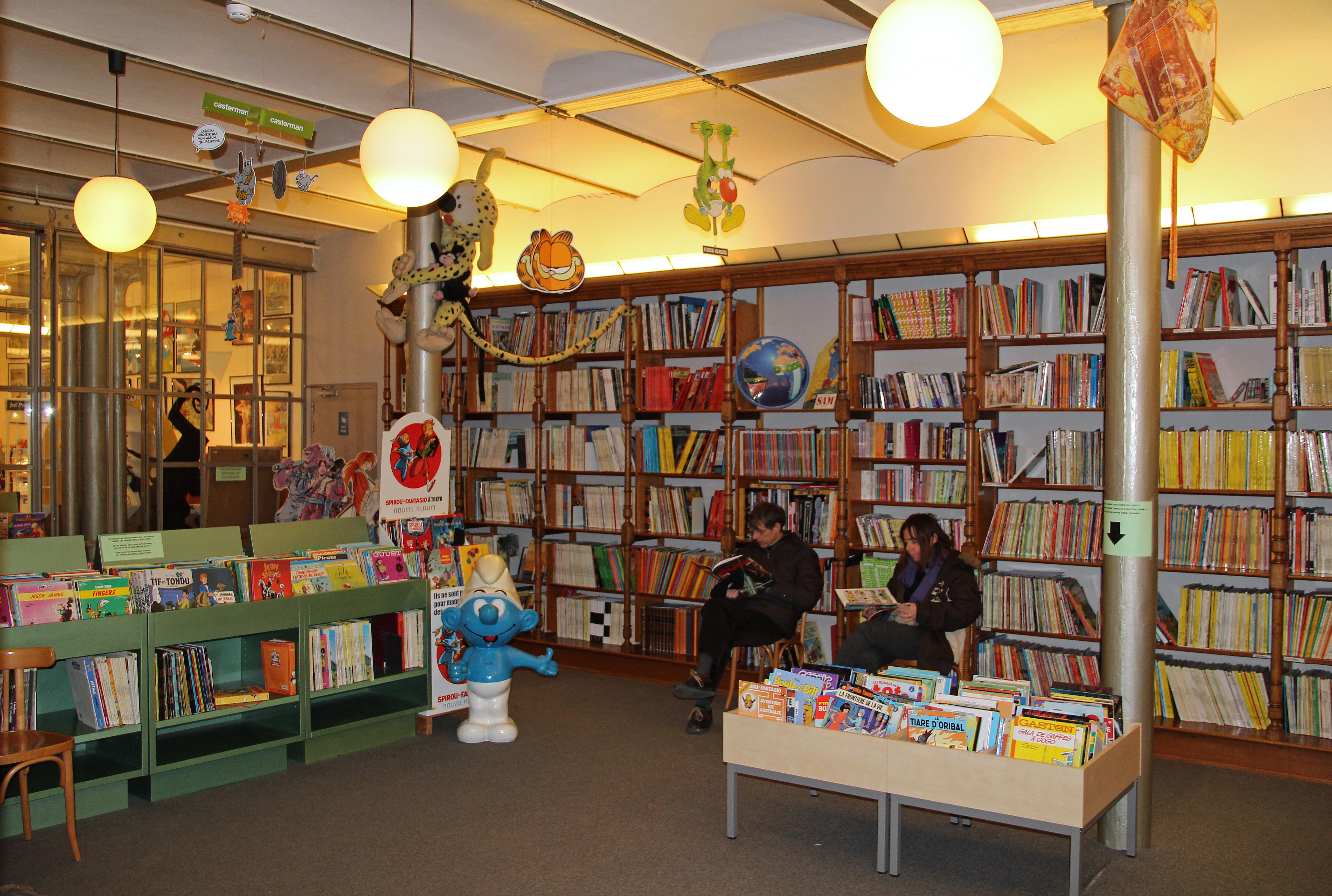 La salle de lecture centre belge de la bande dessin e mus e bruxelles - Job etudiant femme de chambre bruxelles ...